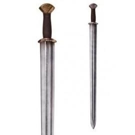Celtic - long sword with steel or brass finished hilt