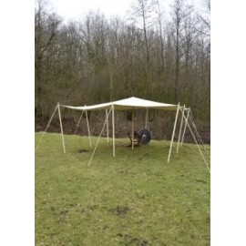extra strong Awning / Tarpaulin, with loops 450 gsm, nature