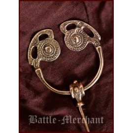 Goldsborough Fibula, Viking Brooch, brass