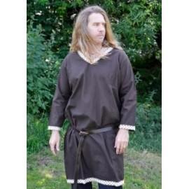 Fantasy Viking Tunic from Cotton, dark brown