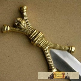 Celtic Dagger with a face, anthropomorphic