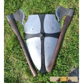 MEDIEVAL BATTLE SET - AXES and a SHIELD