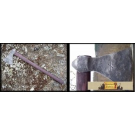 FORGED VIKING RUNIC AXE