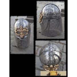 VIKING OCULAR HELMET, casted bronze mask