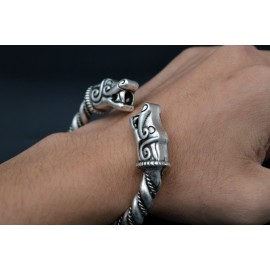 Fenrir Dragon Viking Bracelet