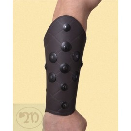 Bracer - wrist guard with washers, brown