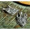 VIKING WOLF HEAD, silver pendant
