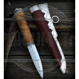 Exclusive Viking knife with damascus blade