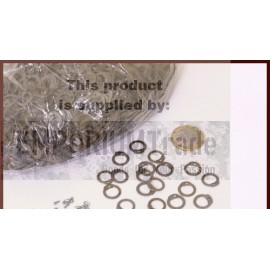 1 kg package flat loose rings for riveting, ID 8mm, blackened