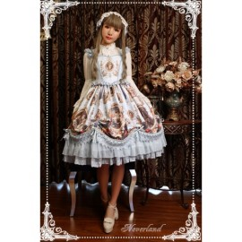 Neverland Magic Night in Museum Sweet Rococo Lolita OP Dress