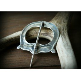 Large Viking cloak pin from Norway - fibula in silver