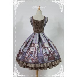 Neverland Steampunk Cat Lolita Jumper Dress