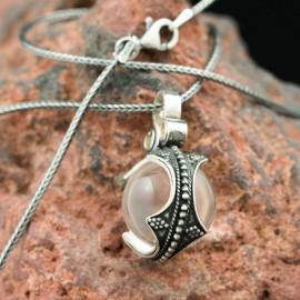 Viking Crystal Ball Pendant, Gotland, silver