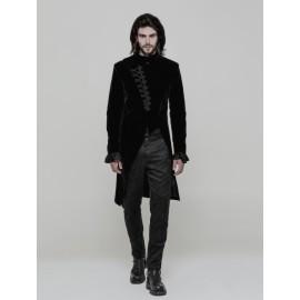 Black Velvet Vintage Gothic Simple Suit for Men