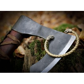 FLÓKI, Viking Brass Bracelet