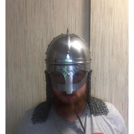 Gjermundbu Helmet Combat Replica with chainmale