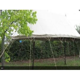 Two poles pavilion 4 x 7 m x 4 m high - linen