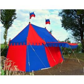 Tudor Medieval Pavilion - 3m x 4,5m - Cotton Colored