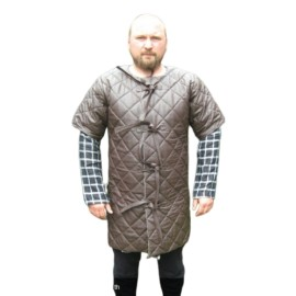 Leather Gambeson short sleeved Gm10-s3