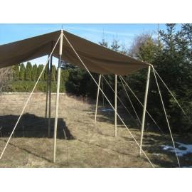 Tarpaulin, 4 x 4 m, linen