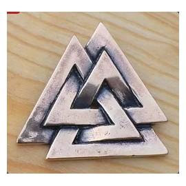 VALKNUT, viking pendant, bronze