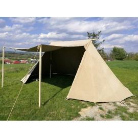 Market Geteld Tent, 4 x 6 m, linen
