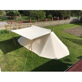 Geteld Tent 4 x 7 m - cotton