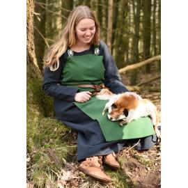 Viking Apron Dress, Overdress Tinna, green