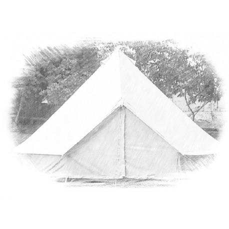 BELL Tent - 4m diameter - linen