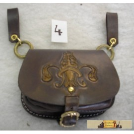 GOTHIC BELT BAG with Fleur de Lis