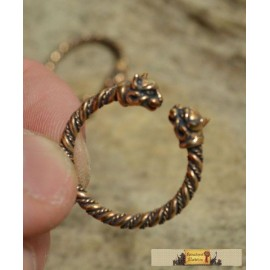 CELTIC CAT, ring, bronze