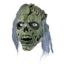 Zombie Mask Green with Hair, LARP Accessoires