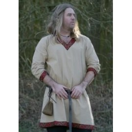 Fantasy Viking Tunic from Cotton, natural-coloured