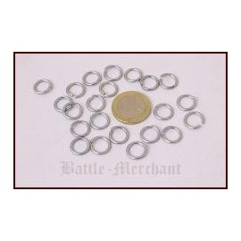 1 kg loose chain mail rings, ID8mm, zinc-plated