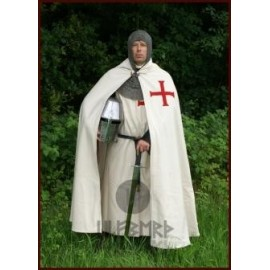Templar cloak, white with red cross