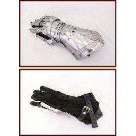 Gothic Gauntlets (pair), steel - special offer