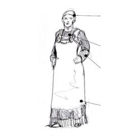 Viking Upron Dress Hängselkjol