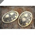 Tortoise (oval) brooches
